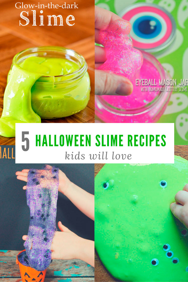 5 Halloween SLIME Recipes Kids Will LOVE